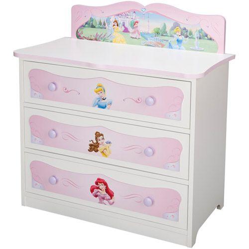 Disney Princess Chest | Disney Princess Dresser,3-Drawer - Walmart ...