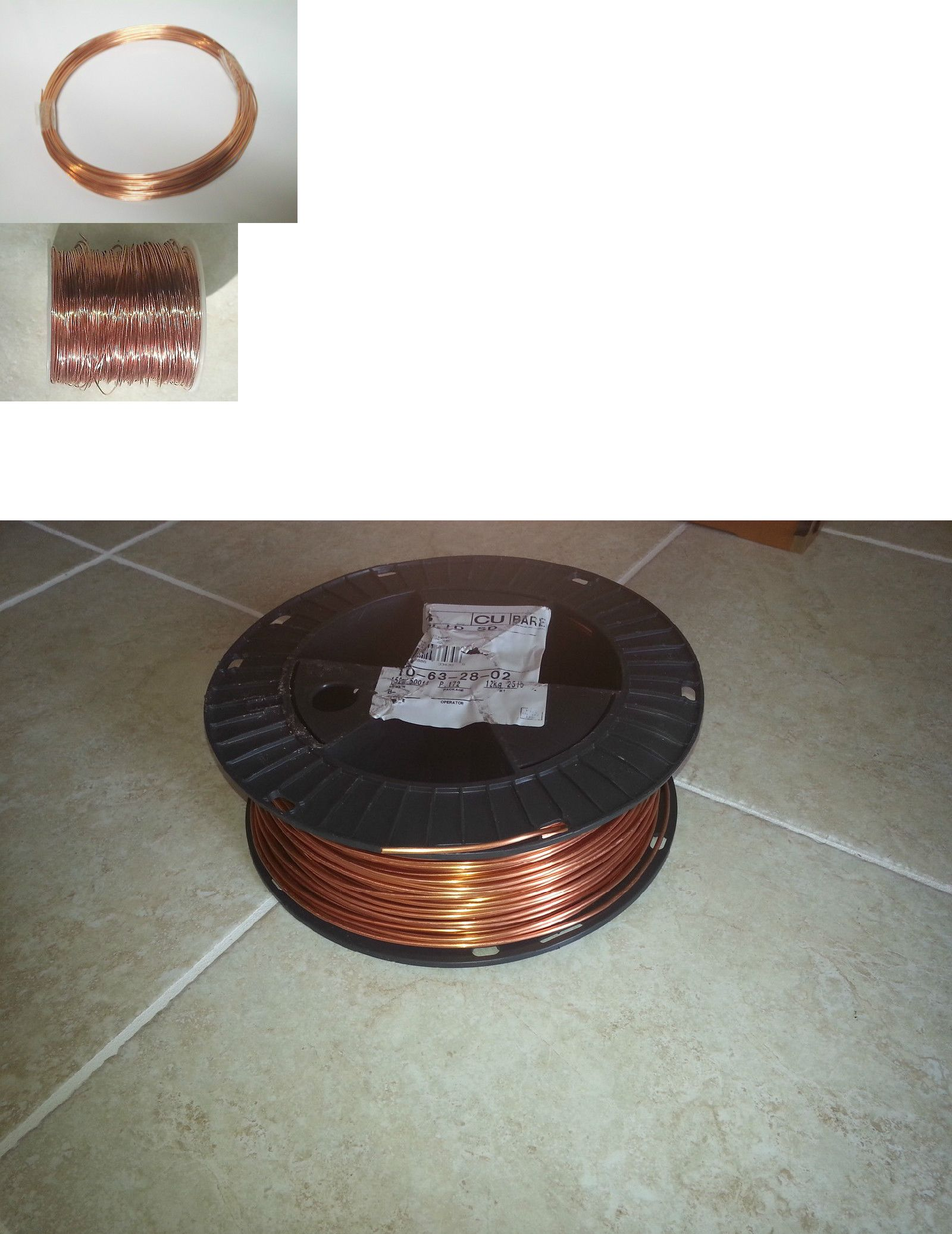 Wire 67714: Solid Bare Copper Wire-Choose Your Gauge And Length ...