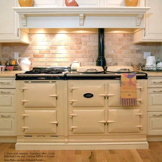 Country Kitchen Appliances: AGA 3 Oven Traditional Gas Cooker W/ Module Attached