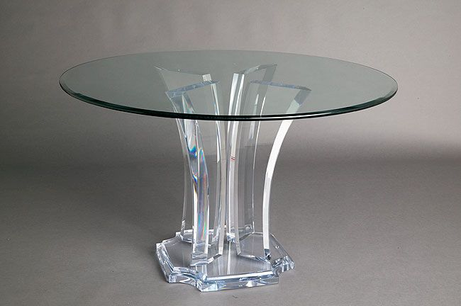 Possible Base For Bedroom Table Holland Glass Dining Table