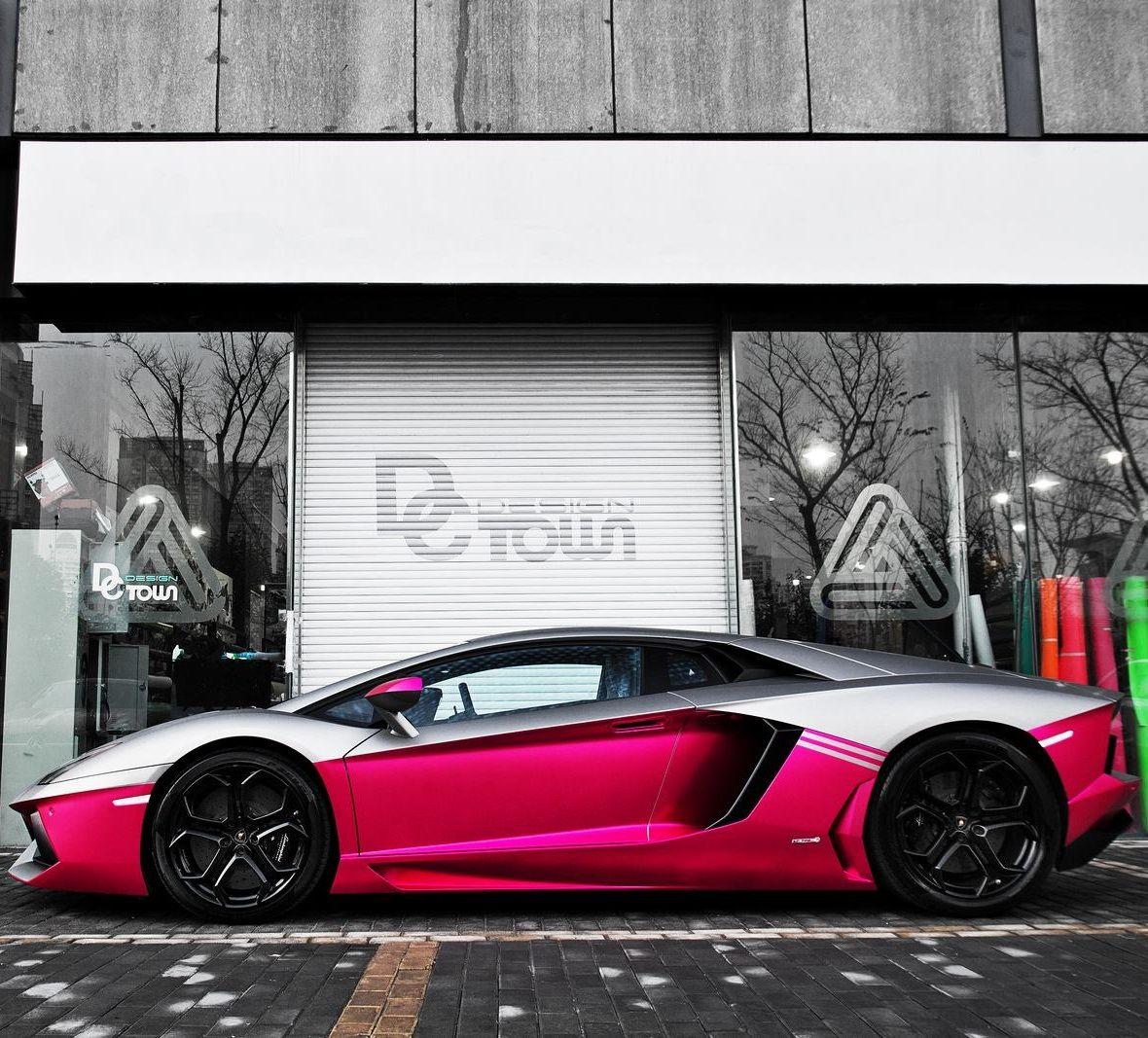Twotone pink and silver Aventador CarFlash Dream