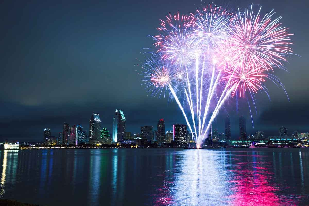San Diego, California. The Big Bay Boom is the largest on