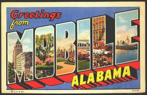 Greetings from Mobile, Alabama ~ Large Letter Greetings From - letter greetings