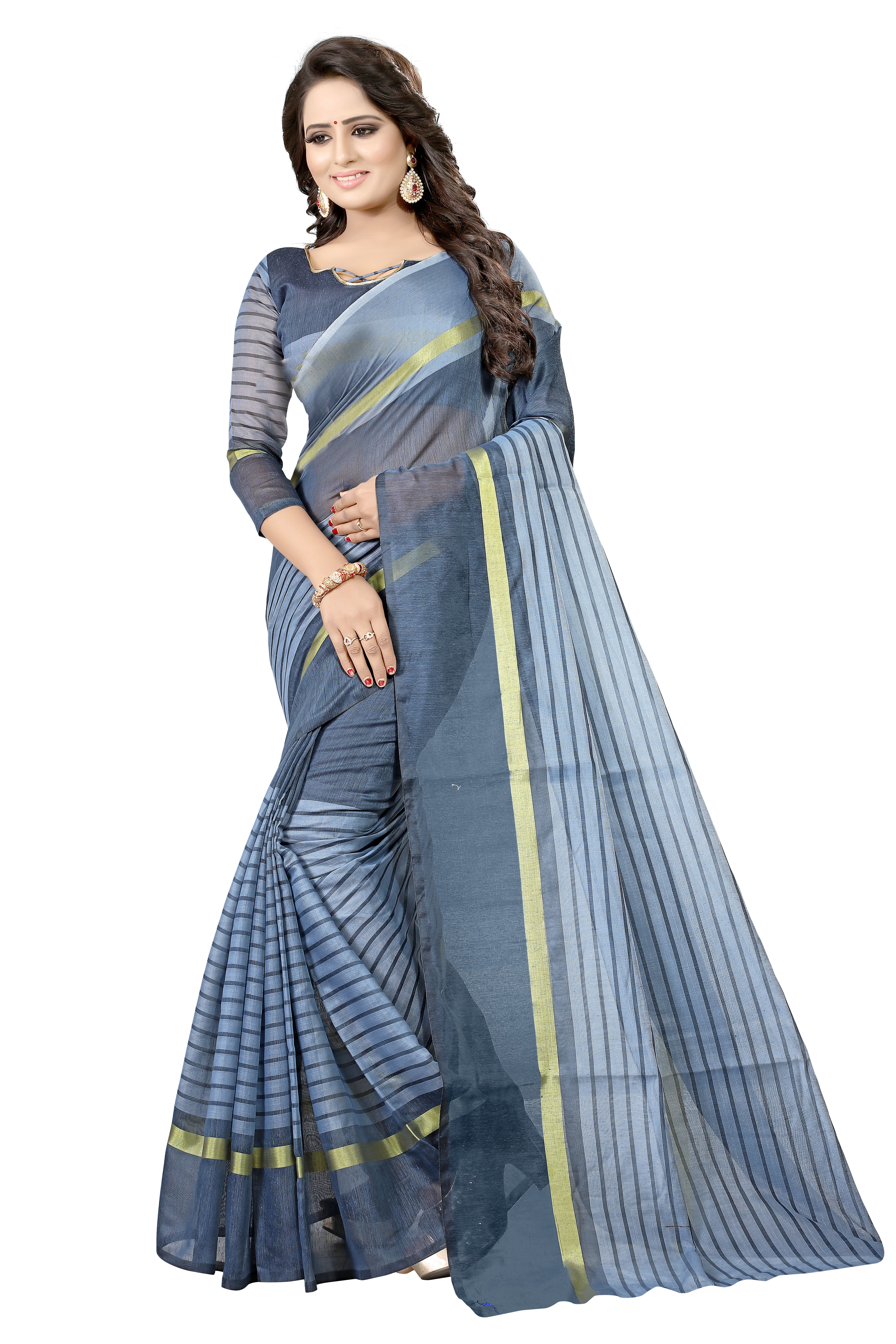 3e9396282a New Designer Cotton Silk Saree With Blouse | Only on  trendyecomshop.shopwithme.in | Best Saree Online
