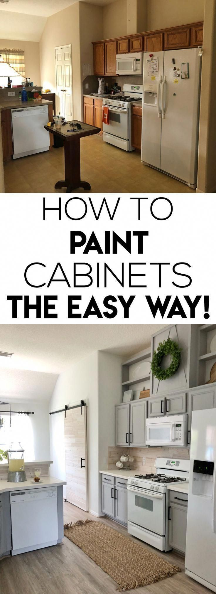This Is One Of The Easiest Ways To Paint Kitchen Cabinets It Has Very Few Steps And It Dries Quickl New Kitchen Cabinets Kitchen Cabinets Kitchen Renovation