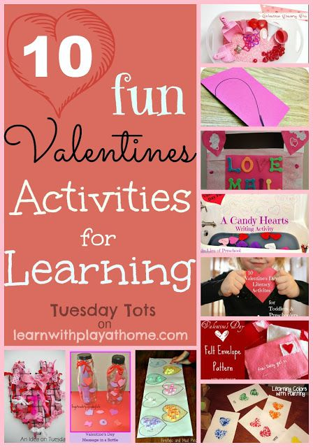 10 fun & educational Valentine's themed activities all in one place!, from learnwithplayathome.com