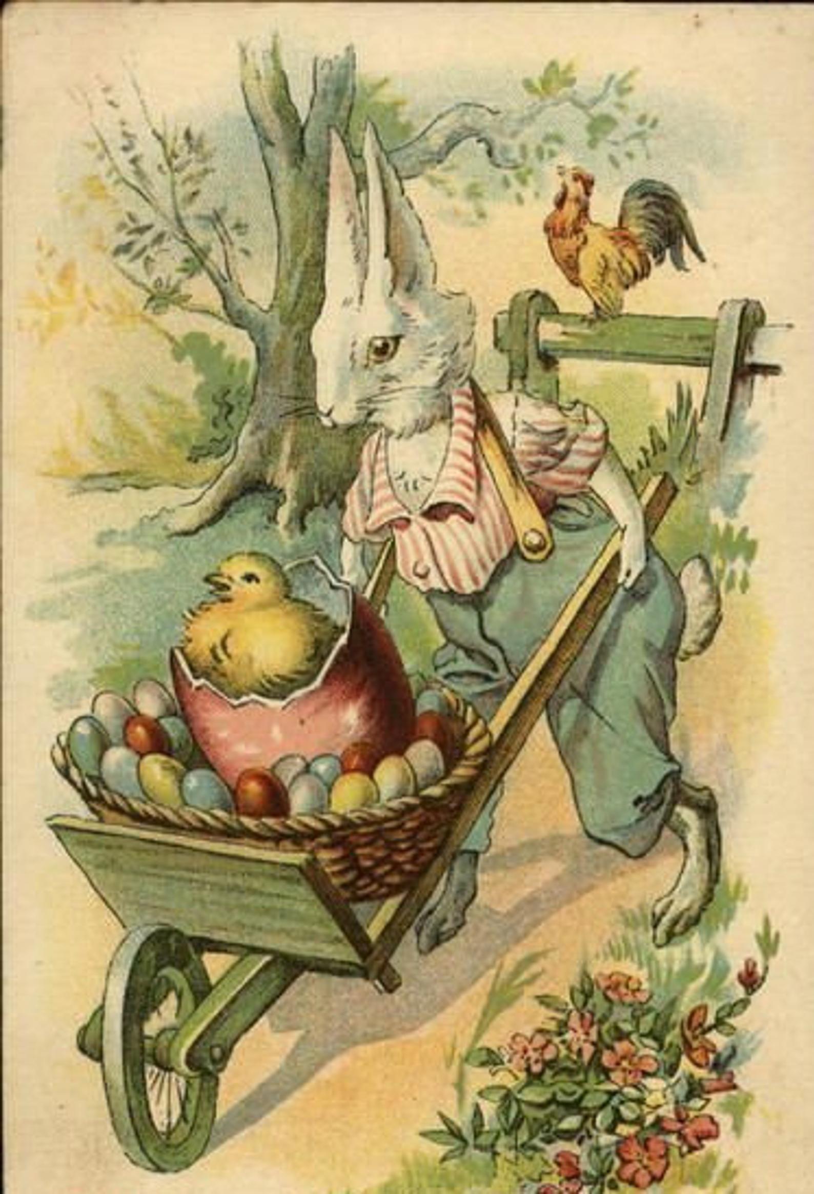 Bunny ride cross stitch pattern pdf etsy vintage