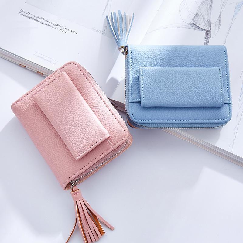 Women Ladies Cute Wallet With Tassel Card Coin Pocket Mini Short Purse