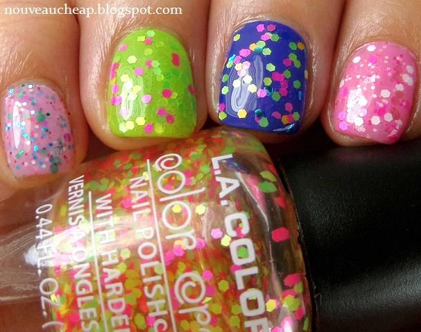 Review New L A Colors Color Craze Nail Polishes From Dollar Tree Matte Glitters And Milky Glitters Nails Nail Polish La Colors Nail Polish