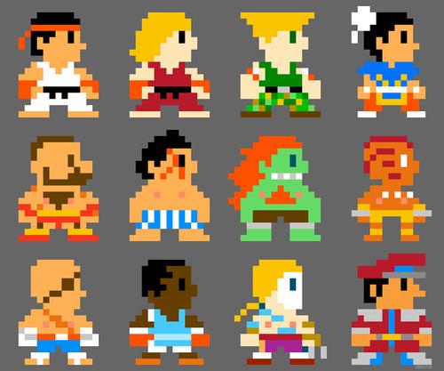 8 bit Street Fighter II