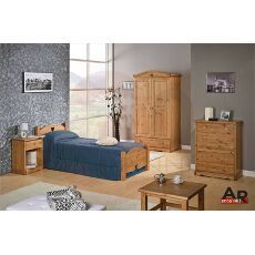 Camera da letto cuore completa con struttura in legno di pino massiccio di svezia questo - Mobili in pino di svezia ...