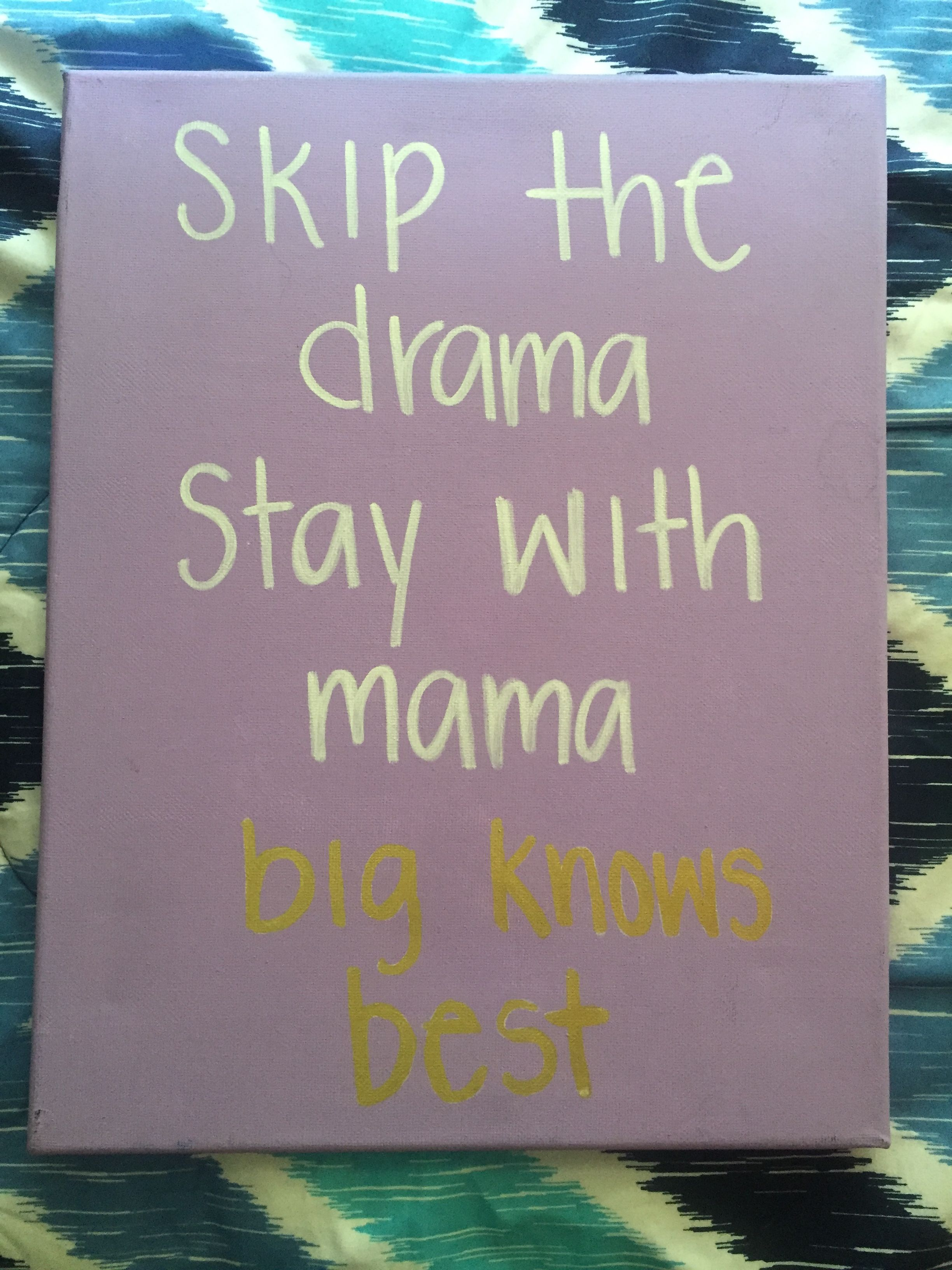 Tangled Mama Knows Best Disney Big/Little canvas | Disney ...