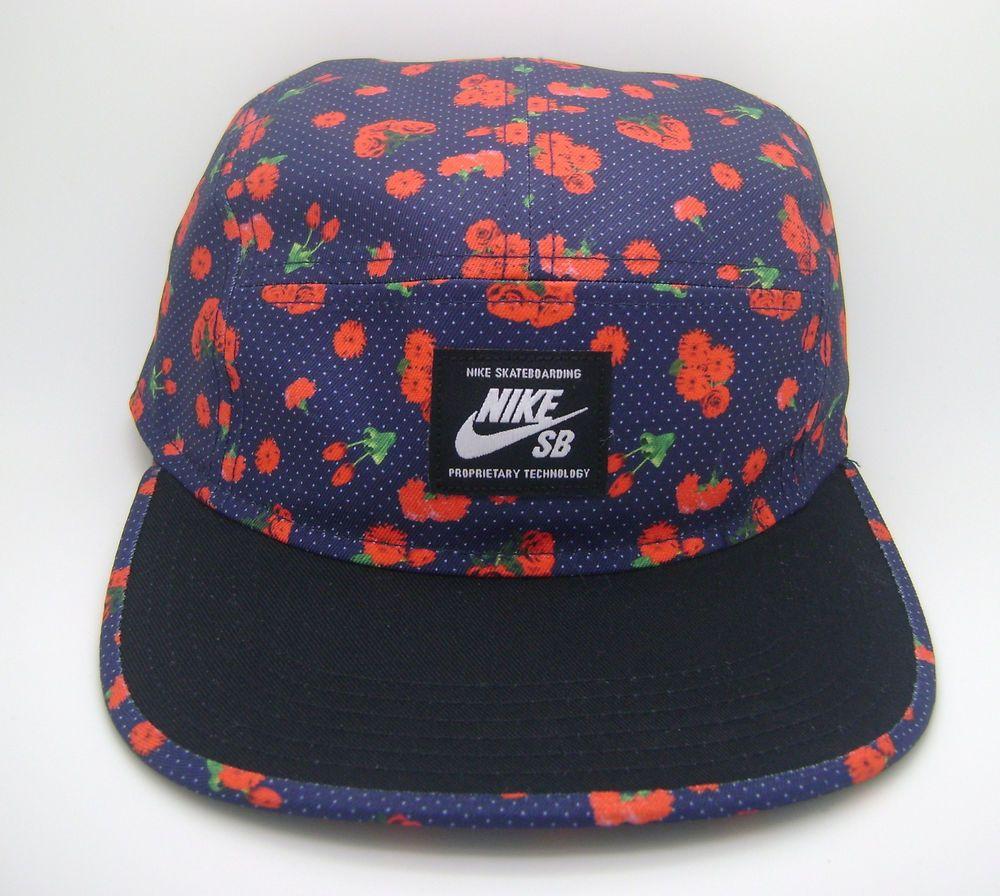 NIKE SKATEBOARDING SB ROSE CITY FLORAL FIVE PANEL ADJUSTABLE HAT CAP (OSFM)--NEW   NIKESB  FIVEPANEL d1a64ff0db1d