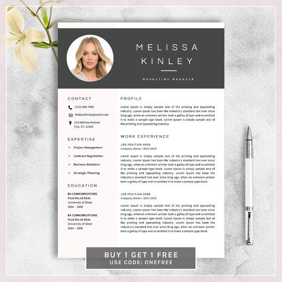 Creative Resume Template, CV Template for MS Word, Professional - cool resume templates free