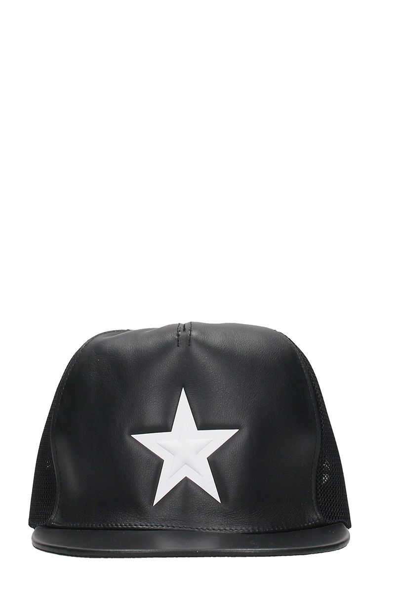 GIVENCHY BLACK LEATHER HAT.  givenchy    163ddba9b48