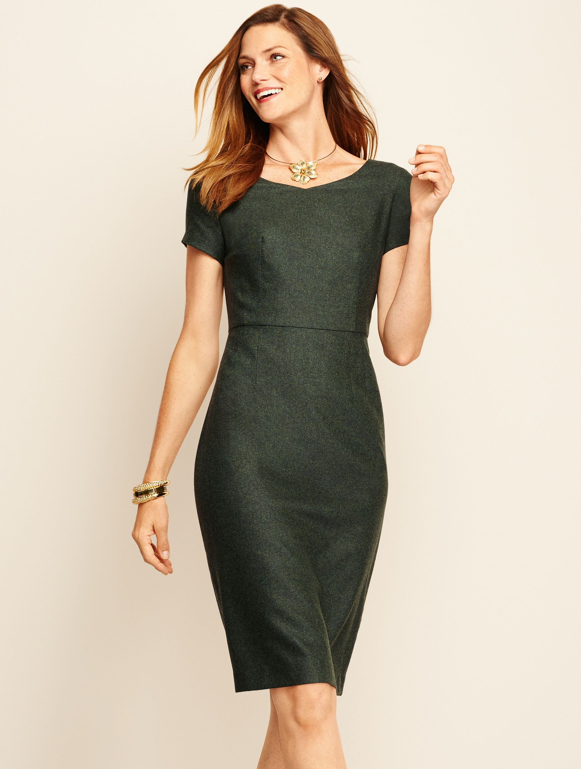 44fbe3cd ... Wool Cashmere Flannel Cap-Sleeve Dress is the suiting dress that  instantly boosts confidence - perfect for conferences and big  presentations. | Talbots