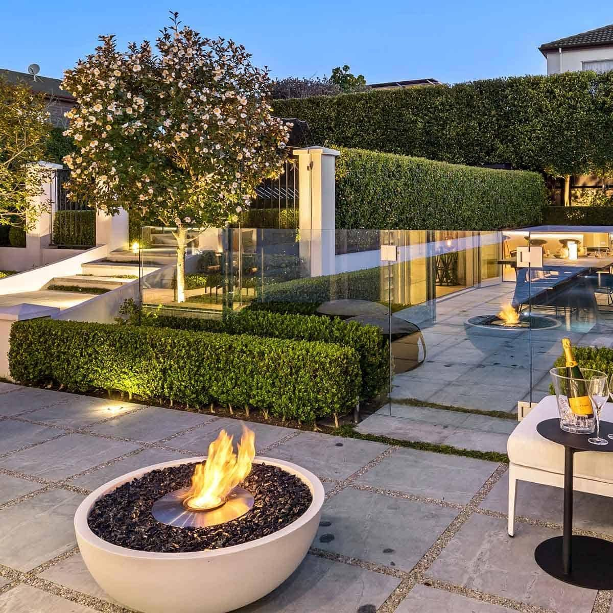 EcoSmart Fire Mix 600 Bioethanol Fire Pit Bowl - Eco Bone / Stainless Steel / No