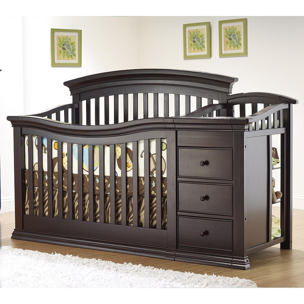 In White Sorelle Verona 4 In 1 Lifetime Convertible Crib And Changer Espresso C International Babies R Us Cribs Baby Furniture Convertible Crib