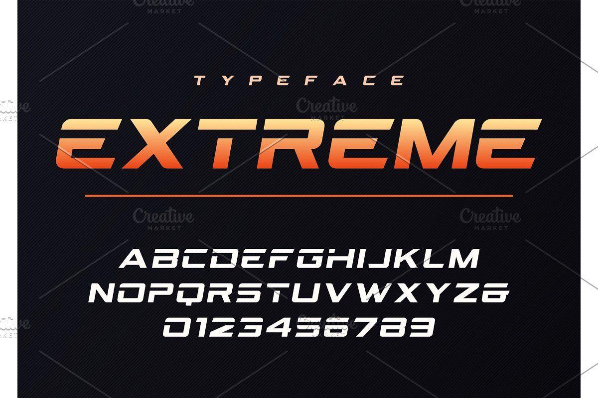 Extreme trendy futuristic font in 2020 futuristic fonts