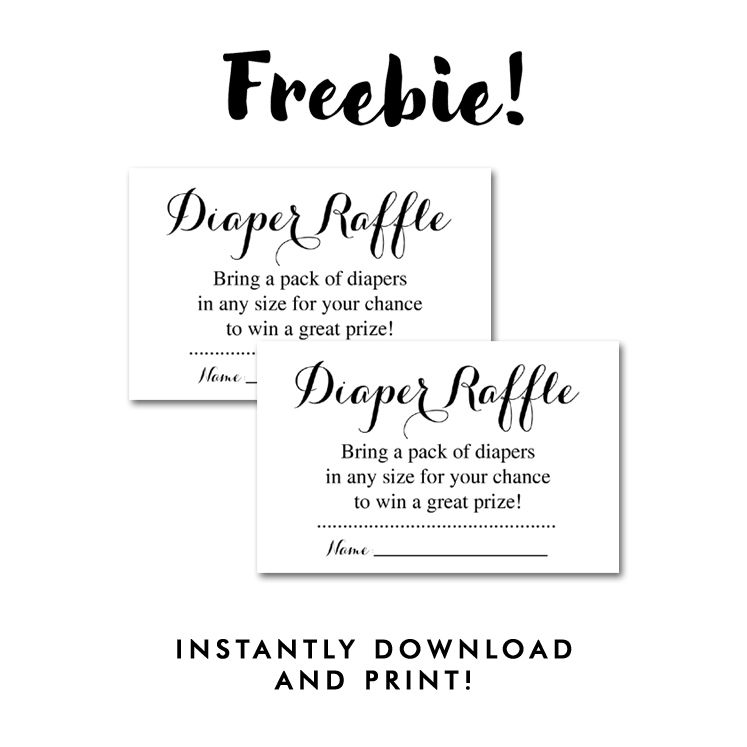 printable diaper raffle tickets