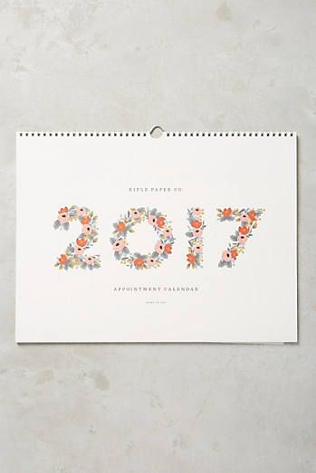 2017 Appointment Calendar paper and Pinterest Appointment