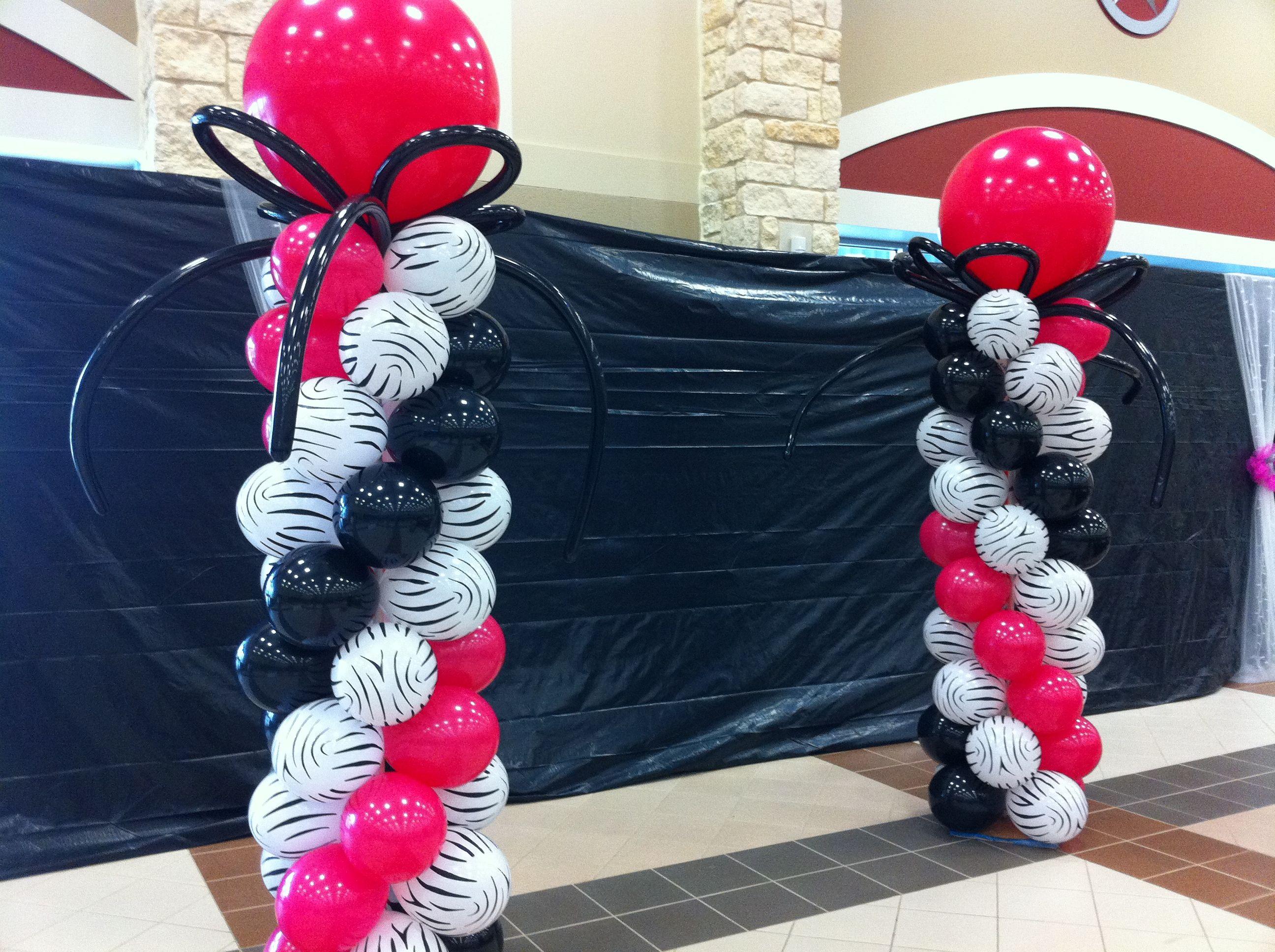 Zebra wedding decorations  zebra print and pink wedding ideas  Specializing in Fort Bend