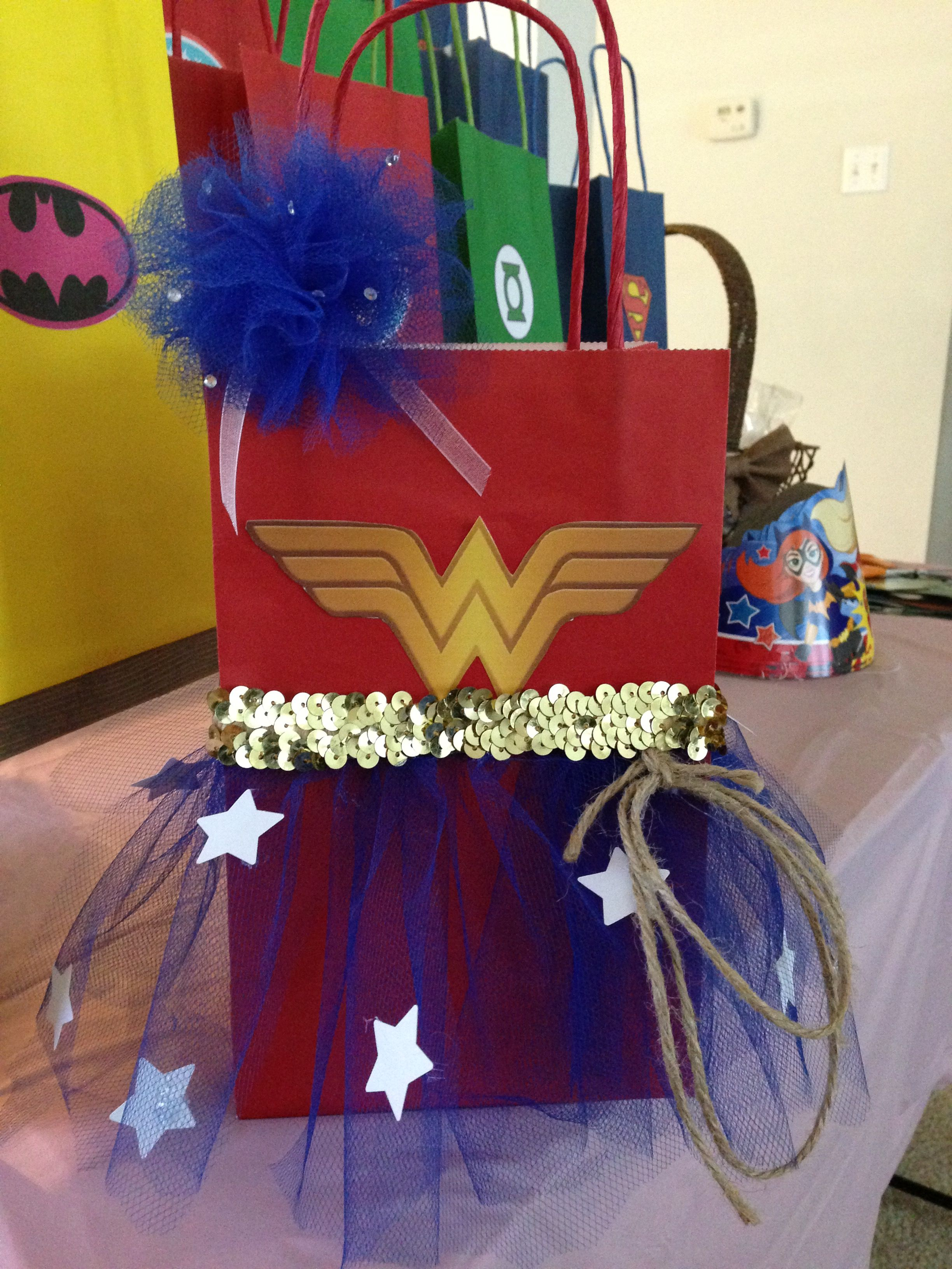 abca05664e Wonder women candy bag | Birthday ideas | Wonder woman birthday ...