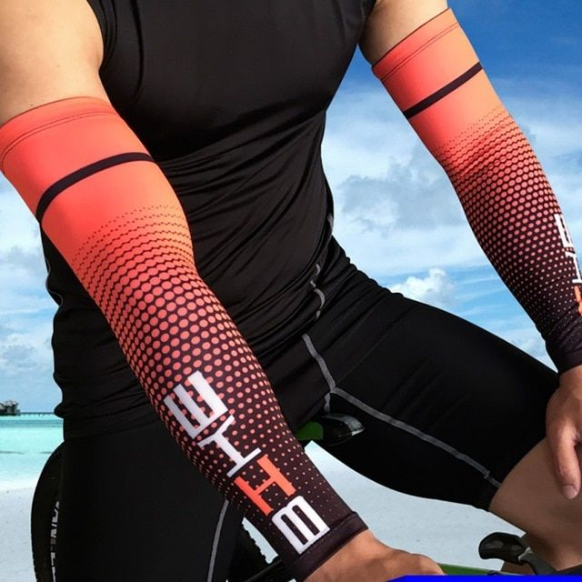 898542dce7 1 pair Cycling Arm Sleeve For Basketball Running Bicycle Arm warmers  Camping Sports Sun Protection UV