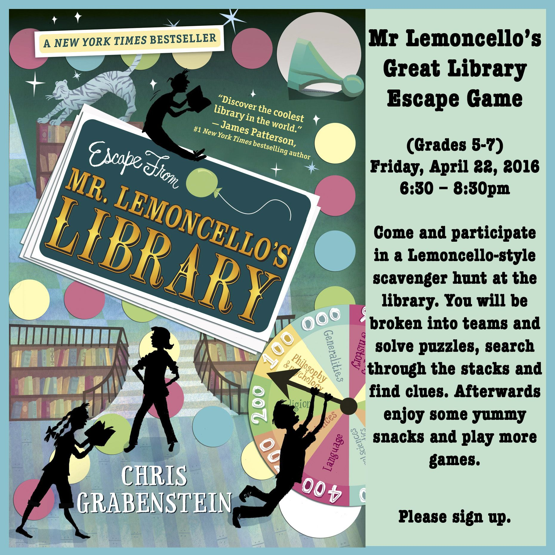 Mr Lemoncello S Great Library Escape Game For Tweens