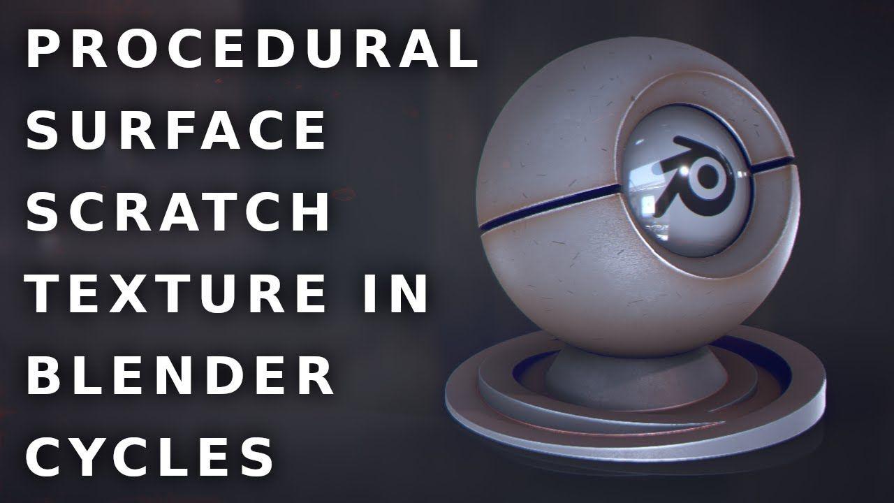 Blender Tutorial #28 Procedural Surface Scratch Texture