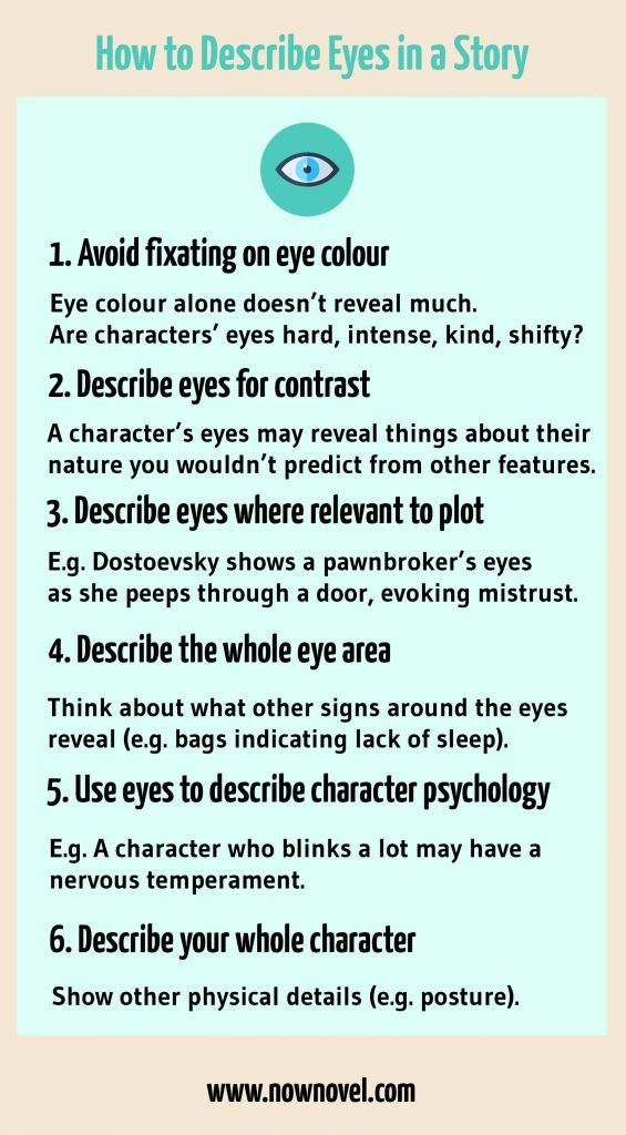 How to Describe Eyes in a Story - 7 Tips   Now Novel