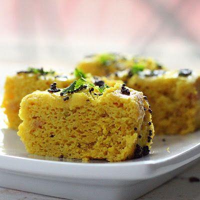 Khaman Dhokla - chickpea flour steamed savory snack cakes ...