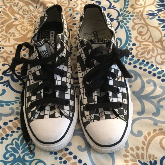 Converse crossword puzzle shoes THE'RE A CROSS WORD PUZZLE! Super cute and fun. Never been worn. Very comfortable. Converse Shoes Sneakers