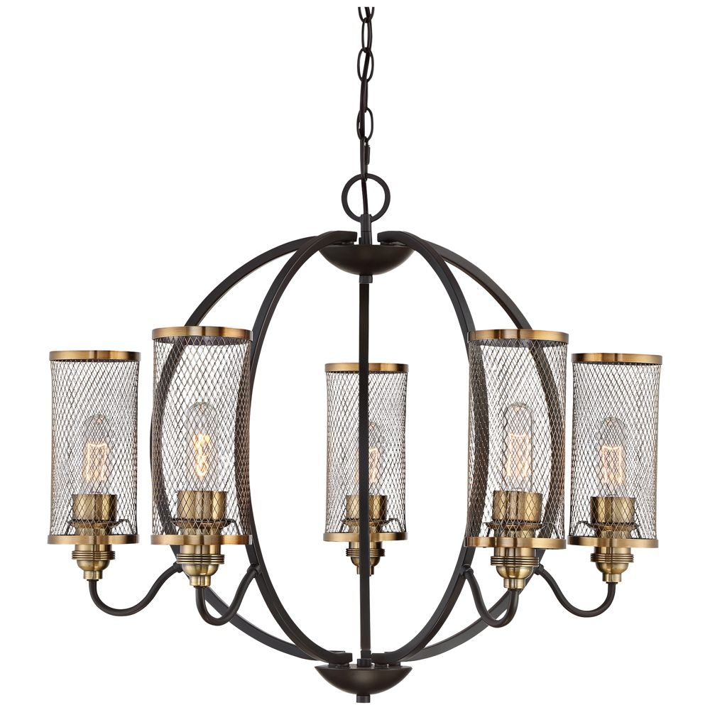 Quoizel denton 28 12w western bronze 5 light chandelier style quoizel denton 28 12w western bronze 5 light chandelier style arubaitofo Image collections