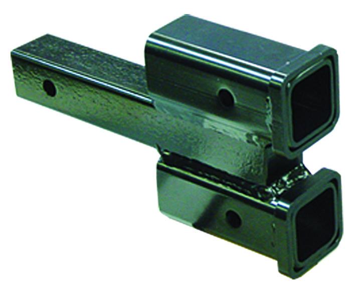 Roadmaster 077 2 Dual Hitch Receiver Tow Bar Adapter 2 Inch Drop Rise 10000 Lb Capacity Camper Trailer Rv Hitch Receivers Receiver Hitch Hitch Accessories