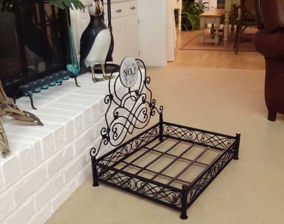Wrought Iron Metal Dog Bed Frame On Etsy 75 00 Metal Dog Bed