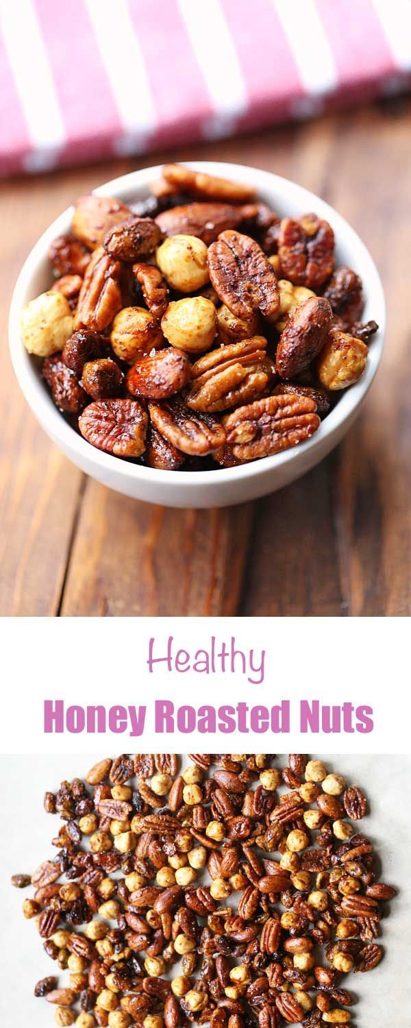 Roasted Nuts Crunchy and salty-sweet, these honey roasted nuts make a great homemade hostess gift - assuming you'll resist the temptation to polish them off by yourself!Crunchy and salty-sweet, these honey roasted nuts make a great homemade hostess gift - assuming you'll resist the temptation to polish them off by yourself!