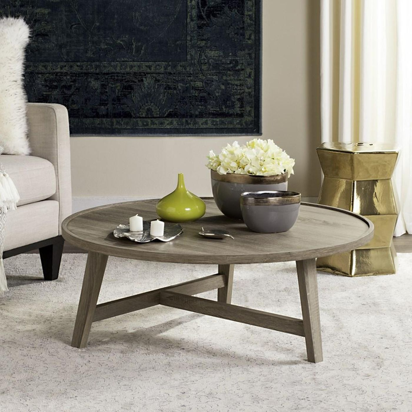 Kendall Coffee Table Cove Goods In 2021 Round Wood Coffee Table Coffee Table Wood Mid Century Coffee Table [ 1400 x 1400 Pixel ]