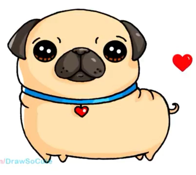 Pug Sticker Dibujos Kawaii