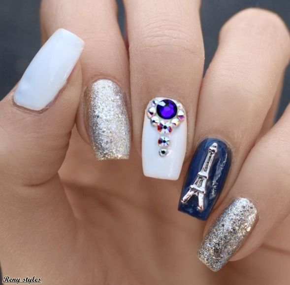 Nail Designs Eiffel Tower for Girls | Pinterest