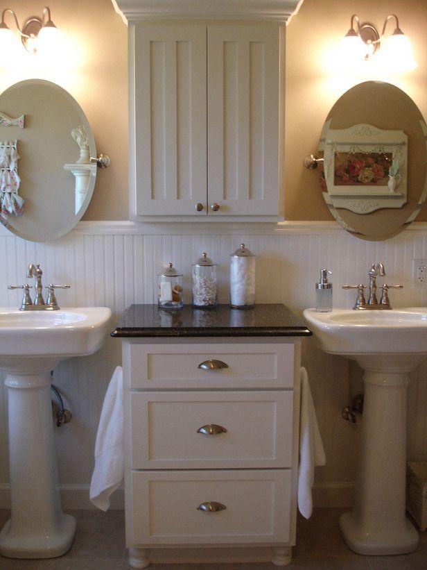 Elegant Small Bathrooms Storage Ideas Unique White Bathroom With Two Mirror