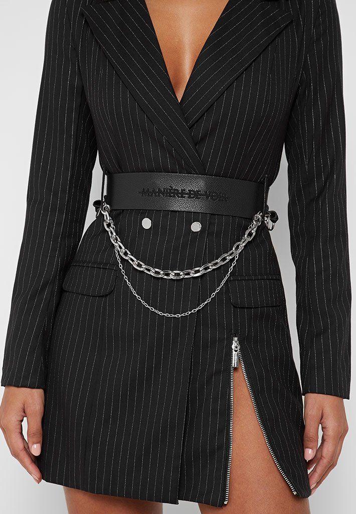 Women's Pinstripe Blazer Dress