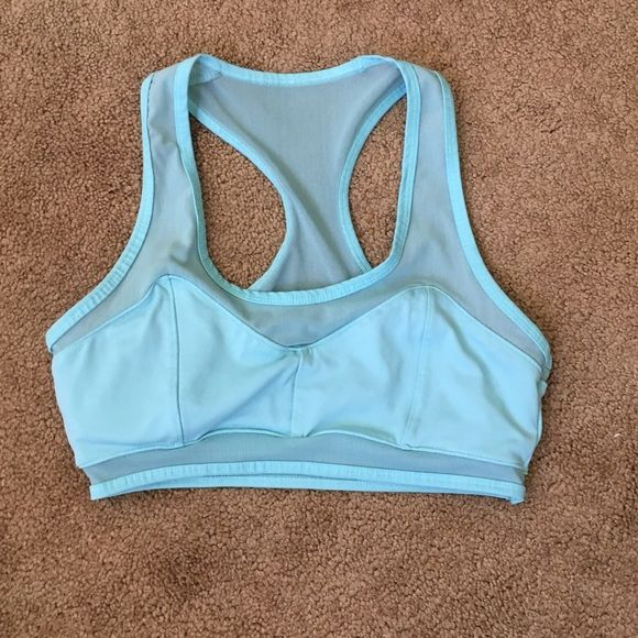 Mesh F21 sports bra  SUPER CUTE! It's too tight for me. Says M but fits more like an S. I am 32C and I think 32B or smaller would fit this better. Hardly worn, maybe 2-3x. Comes with padding. **NO TRADES, NO TRY ONS!** Follow me on IG @ kat.btq Forever 21 Intimates & Sleepwear Bras