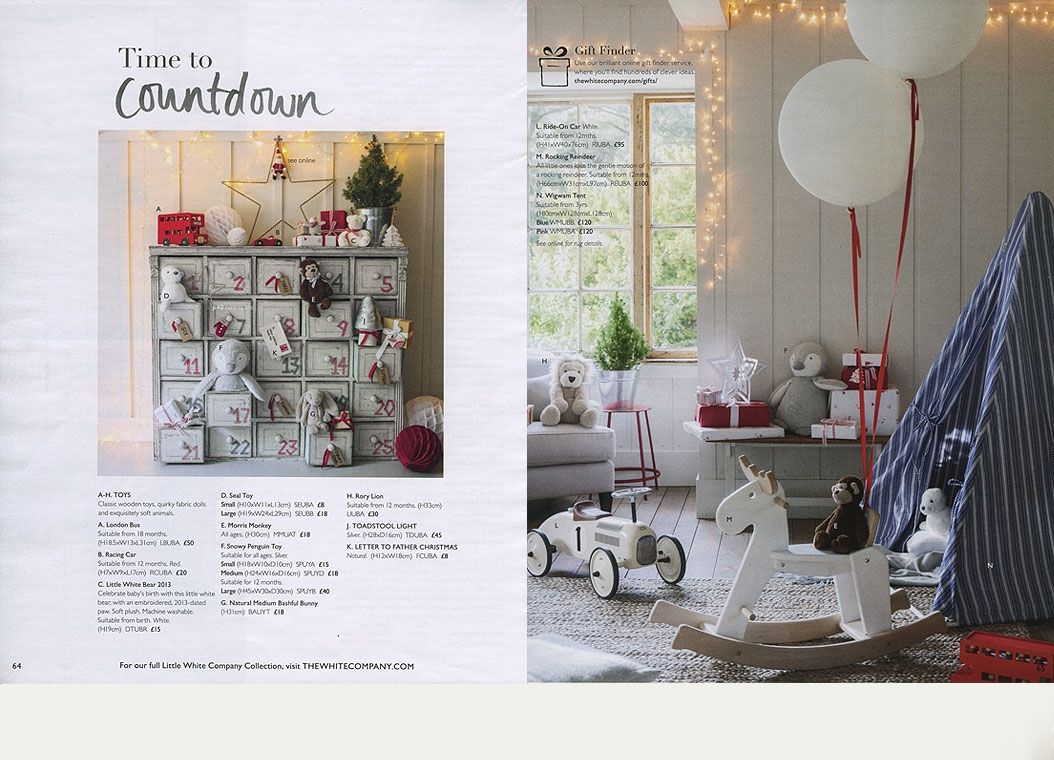 Gorgeous Childrenu0027s Bedroom Christmas Styling From The White Company