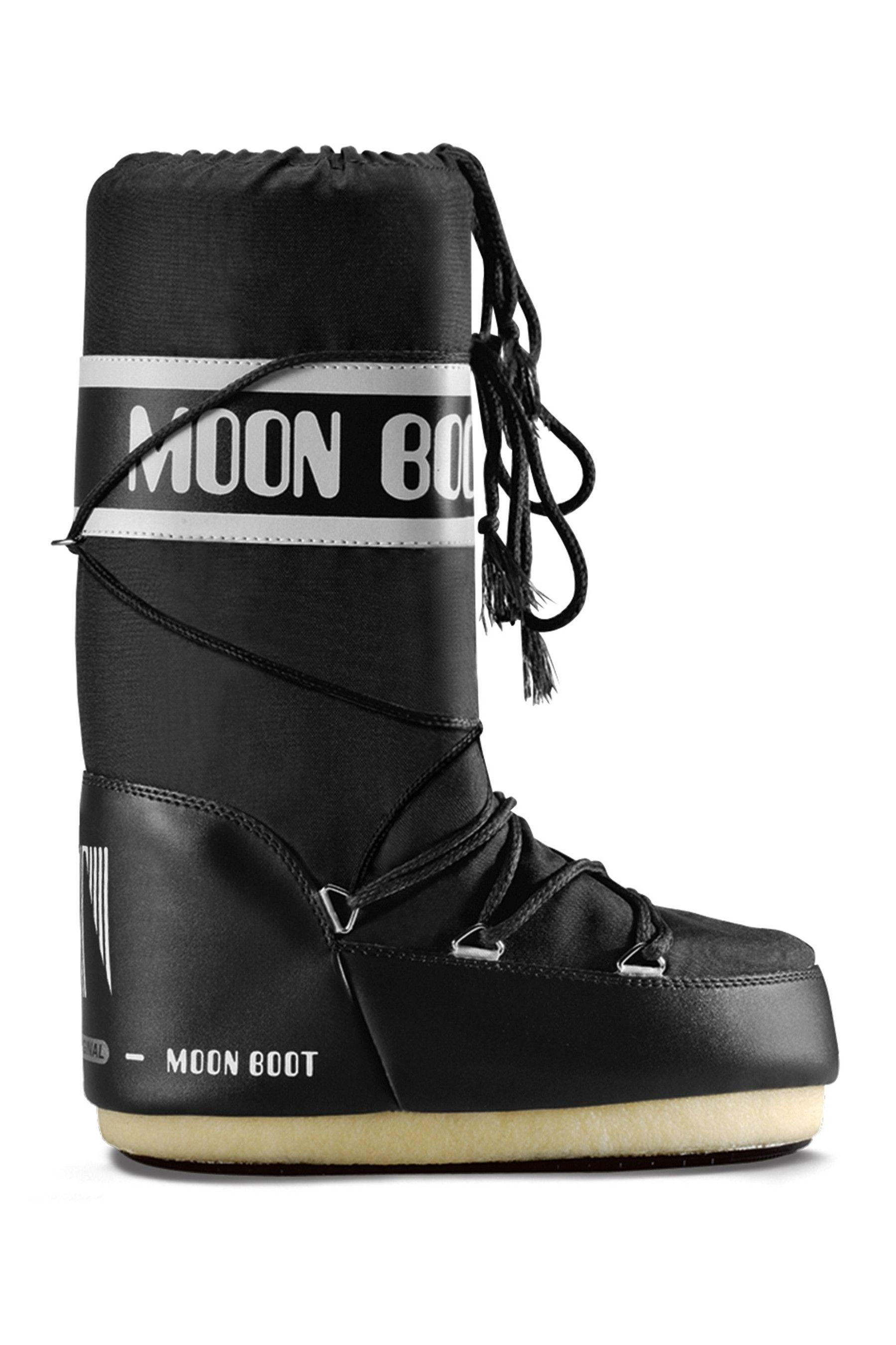 Womens Moonboots Classic Snow Boots Black | Moon boots