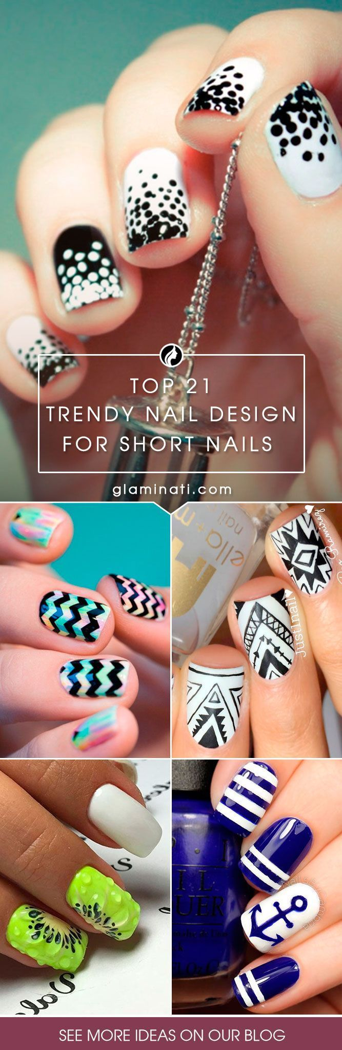 Check Out These Do It Yourself Trendy Nail Designs For Short Nails