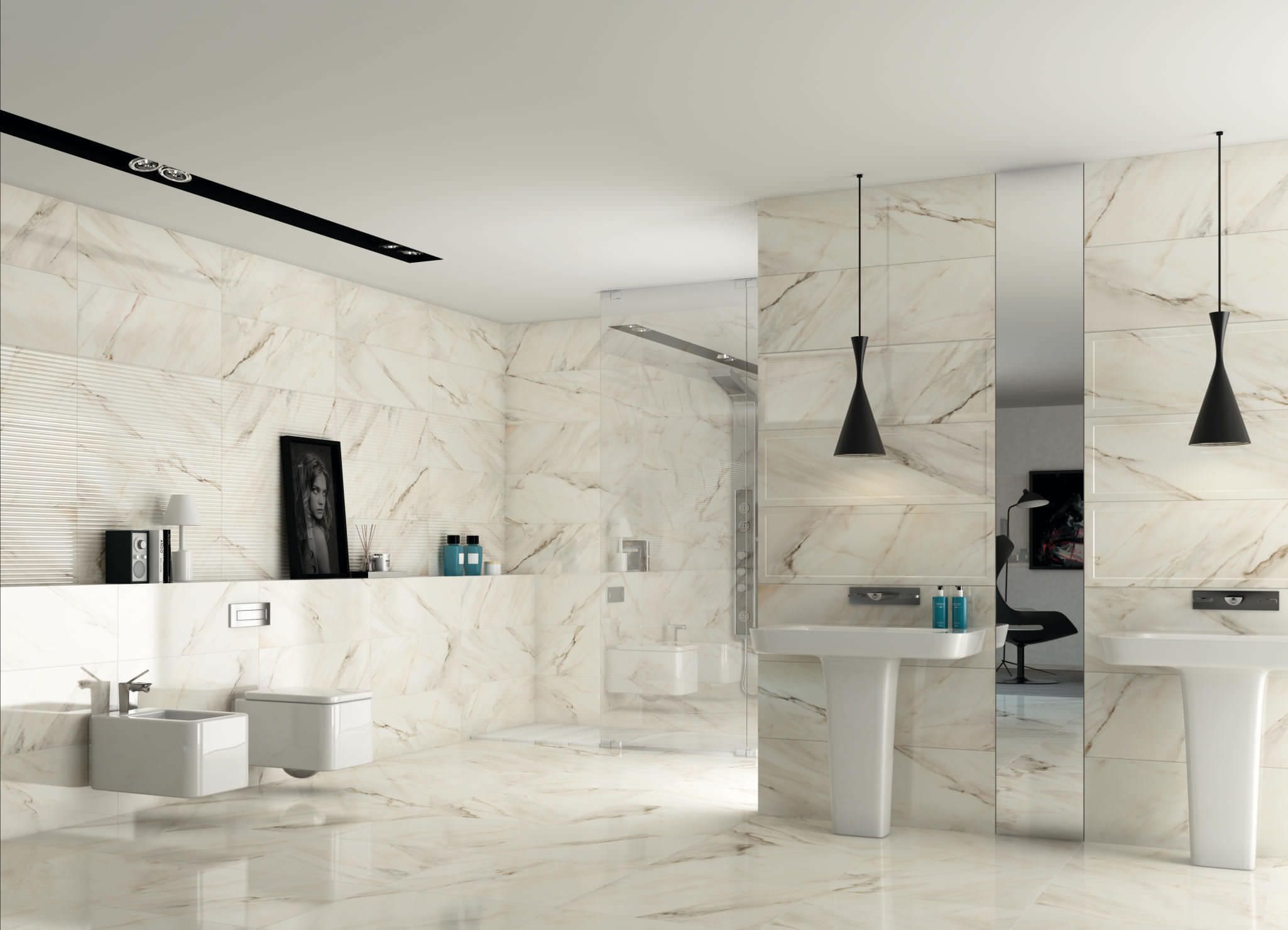 Bathroom Set Ideas with contemporary compact toilet and white ...