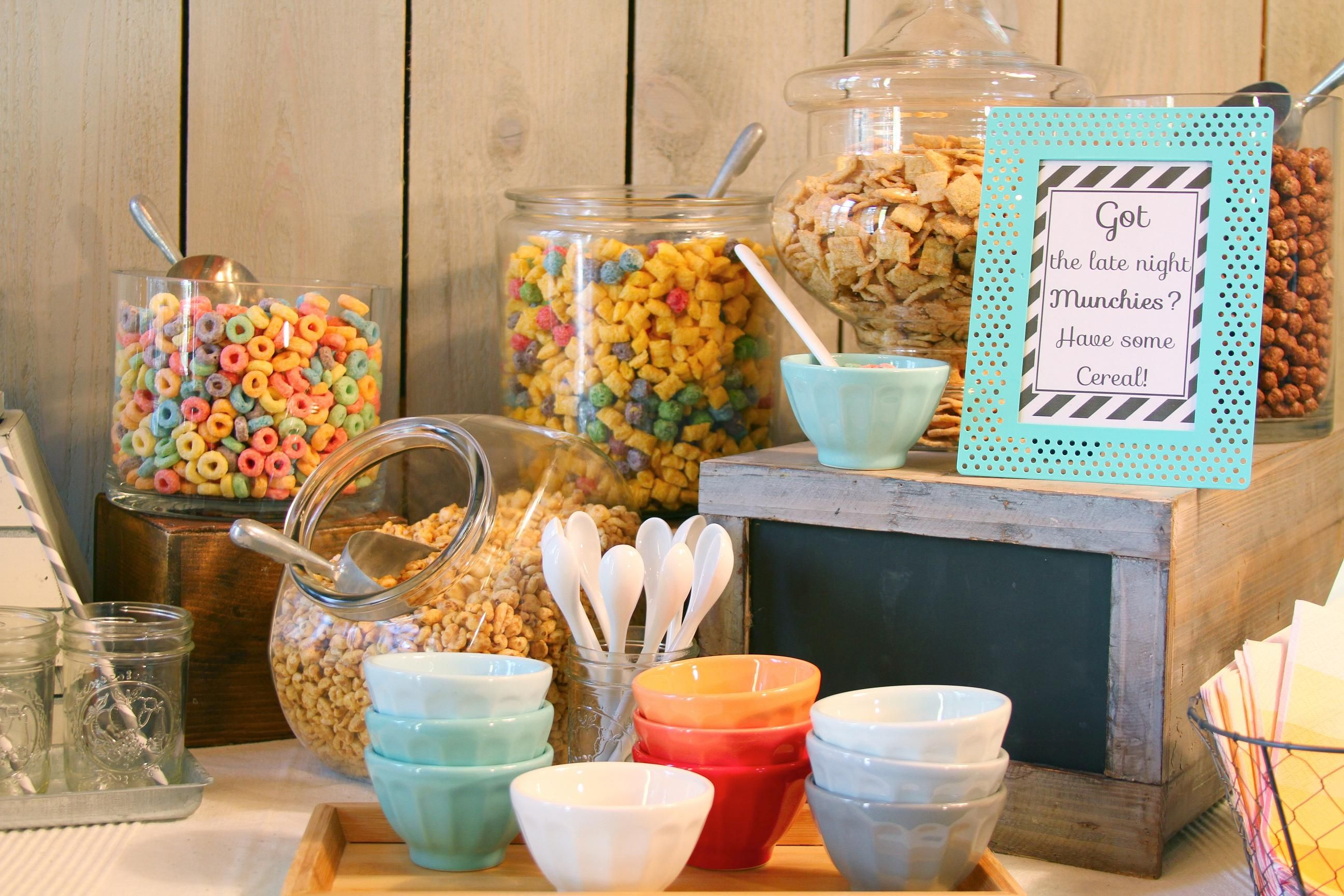 Late Night Snack - Cereal Station!
