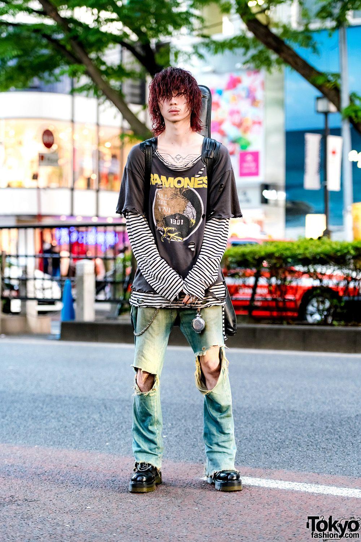 6bdf764d564 Blonde Harajuku Guy in Peel   Lift T-Shirt