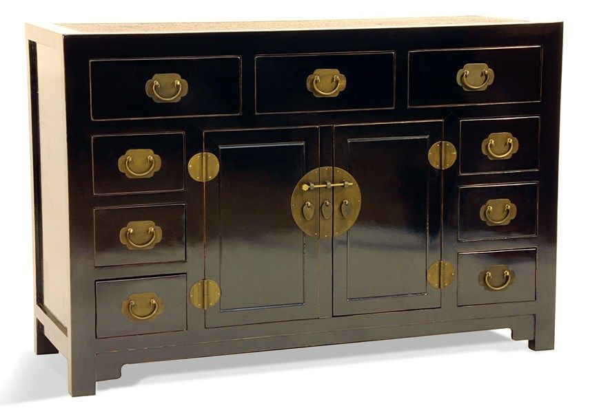 Black lacquer furniture never bored of it